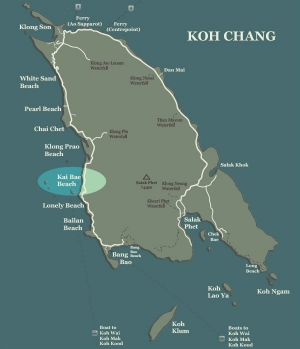 Koh Chang Map Kai Bae Beach