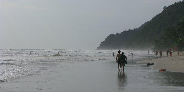 White Sand Beach Koh Chang in rainy season