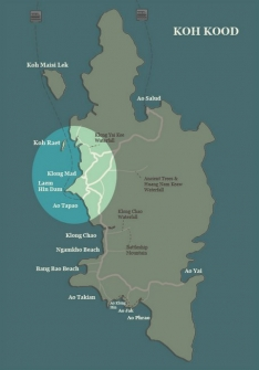 Koh Kood map-Koh Kood Beaches-North West coast