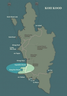Koh Kood map-Ngamkho Beach-Bang Bao Beach
