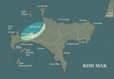 Koh Mak map-Koh-Mak-beaches-Ao-Suan-Yai